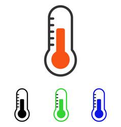 temperature flat icon vector image