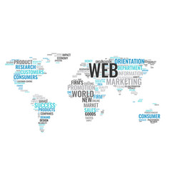 Cloud business concept world map from text vector image word cloud business concept world map from text vector image gumiabroncs Choice Image
