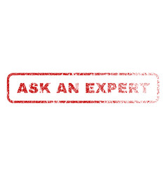 Ask an expert rubber stamp vector