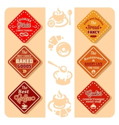 color bakery icons vector image