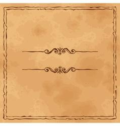 Grunge old paper background vector image vector image