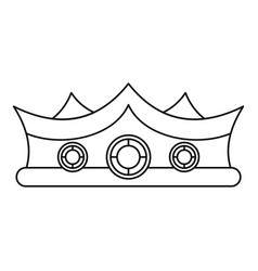 King crown icon outline style vector