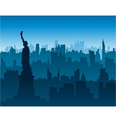 new york cityscape background vector image vector image