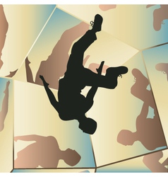 Parkour mirrors vector image vector image