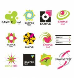 set elements for design vector image