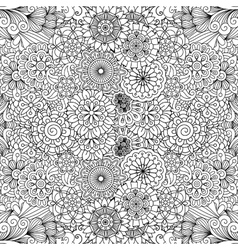 Various floral pinwheel shapes in seamless pattern vector image