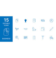 15 business icons vector