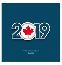 2019 canada typography happy new year background vector