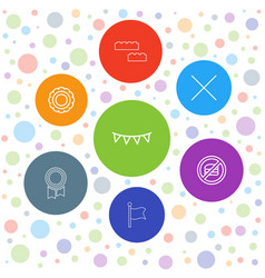 7 banner icons vector