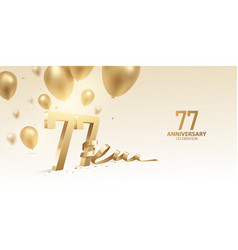 77th anniversary celebration background vector
