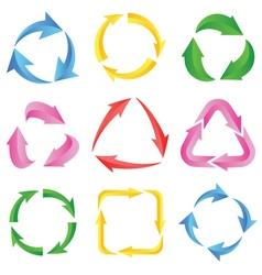 9 of color arrows pictograph refresh vector