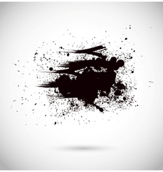 Abstract background Grunge paint banner Black and vector