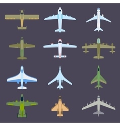 Air plane top view vector