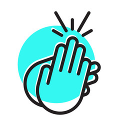 Applause clapping hand flat icon for apps vector