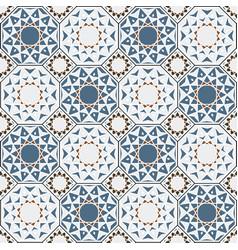 arabesque seamless islamic pattern background vector image
