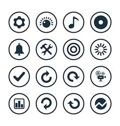 Audio icons universal set vector