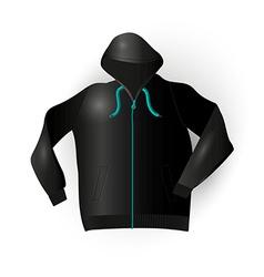 Black sport raincoat vector