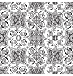 Black white paisly pattern vector