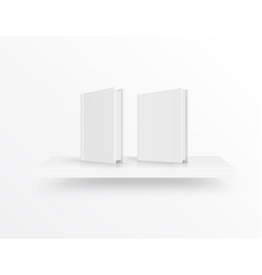 blank book cover on bookshelf over light vector image