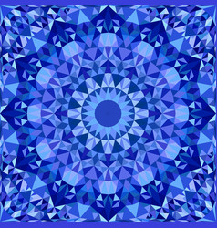 blue repeating kaleidoscope pattern background vector image