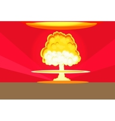 Bomb Nuclear Explosion Design Flat vector