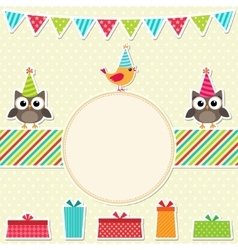 Bright frame with birds vector