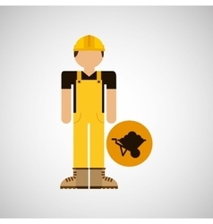 Character construction man with wheelbarrow vector