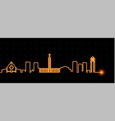 charlotte light streak skyline vector image