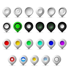Colored markers geolocation icons vector image