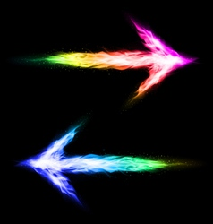 Colorful blazing arrows vector