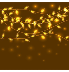 Colorful Glowing Christmas Lights backdrop for new vector image