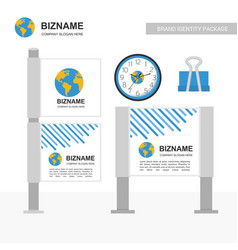Company advertisement banner with stationary vector