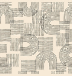 contemporary seamless pattern with aesthetic hand vector image