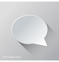 Conversation Balloon Flat Icon Design vector image