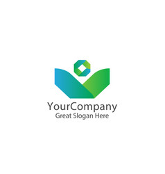 corporate business finance logo concept with vector image
