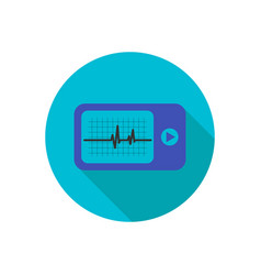 daily monitoring of ecg holter for daily use the vector image