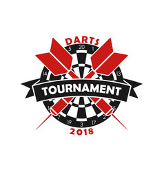 darts tournament logo vector image