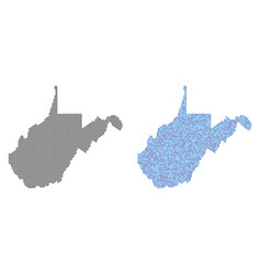 Dotted west virginia state map abstractions vector