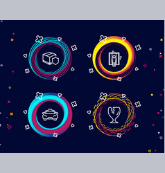 elevator taxi and delivery insurance icons vector image