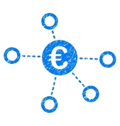 Euro Network Grainy Texture Icon vector