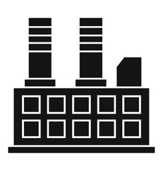Factory building icon simple style vector