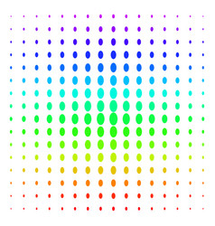 Filled ellipse icon halftone spectral pattern vector