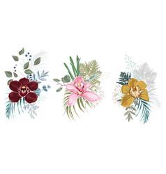 floral bouquet for design vector image
