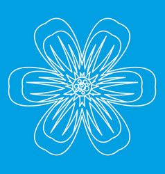 Flower icon outline style vector