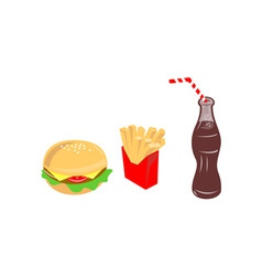 Food Burger Fries Drink vector