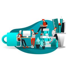 for web page element banner presentation poster vector image