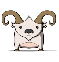 Funny cartoon goat vector