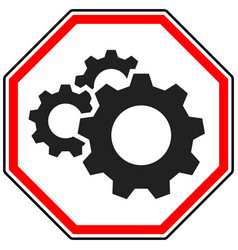 Gear cogwheel icon repair maintance mechanics vector