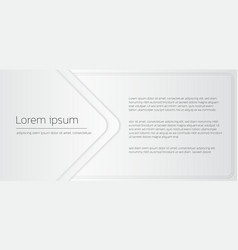 Geometric white banner square frame and space vector