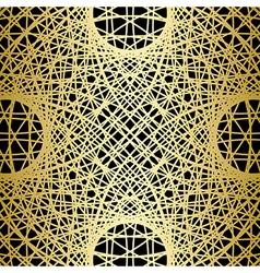 Golden symmetric texture on black - background vector
